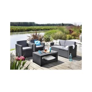 allibert jardin monaco salon de jardin aspect rotin tress pas cher achat vente ensembles. Black Bedroom Furniture Sets. Home Design Ideas