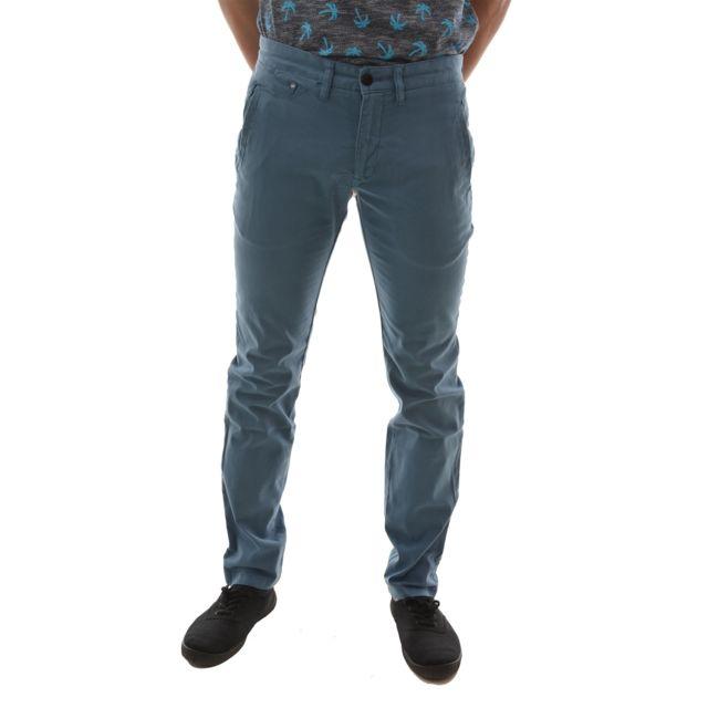 Pantalon chino Tommy Hilfiger Dé nim Ferry bleu pour homme