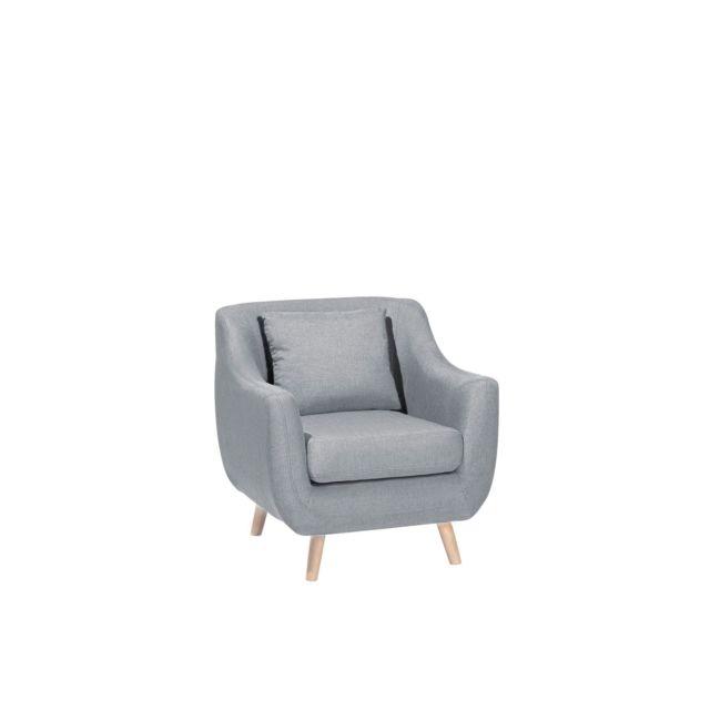 BELIANI Fauteuil en tissu gris clair ARENDAL - gris clair