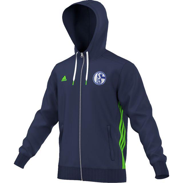 Adidas Veste à capuche Schalke 04 3 Stripes pas cher
