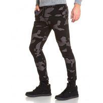 BLZ Jeans - Pantalon jogging homme noir camouflage