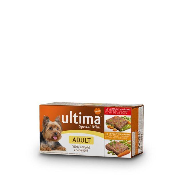 Ultima Chien Adulte Mini Buf Poulet Veau Agneau - Barquettes