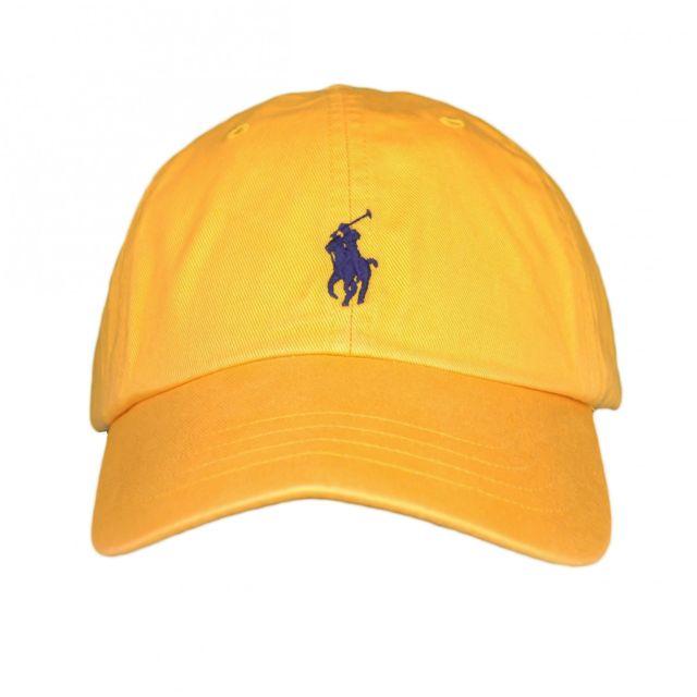 Ralph Lauren - Casquette jaune moutarde mixte - pas cher Achat   Vente  Casquettes, bonnets, chapeaux - RueDuCommerce dc1407c202e