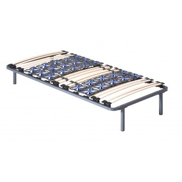 sommier a lattes avec suspension et curseur de fermete interesting sommier tapissier mixte. Black Bedroom Furniture Sets. Home Design Ideas