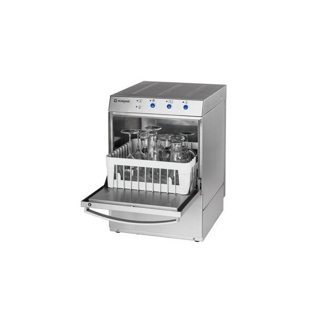 Materiel Chr Pro Lave verre professionnel monophasé avec doseur de liquide de lavage - 350 x 350 mm - Stalgast - 220V monophase
