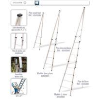 Tubesca Comabi - Tubesca - Plan de base pour Echelle en Aluminium 4 échelons 1,36 m - Laveur De Vitres 2452001