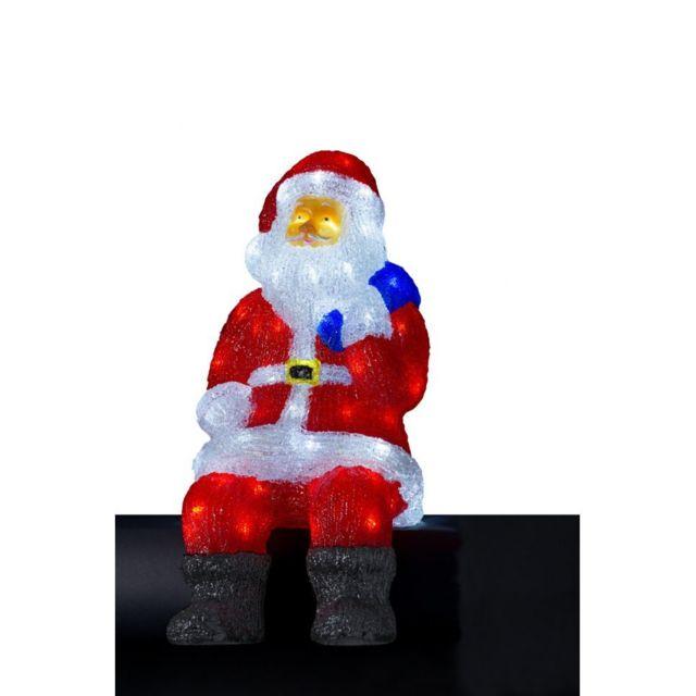 Jja - Père Noël lumineux 100 Led coloris blanc froid - pas cher ... 88d9123b6ba2