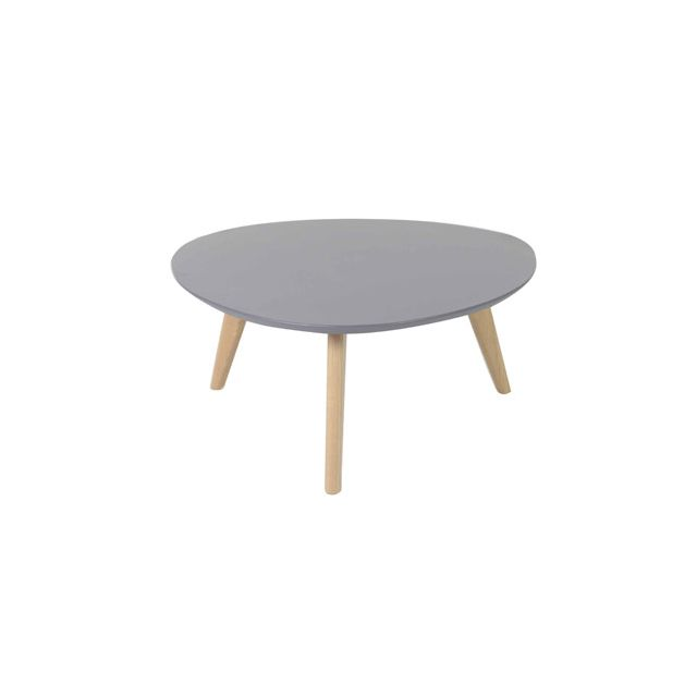 Table basse ronde plateau coloris gris - Baltic
