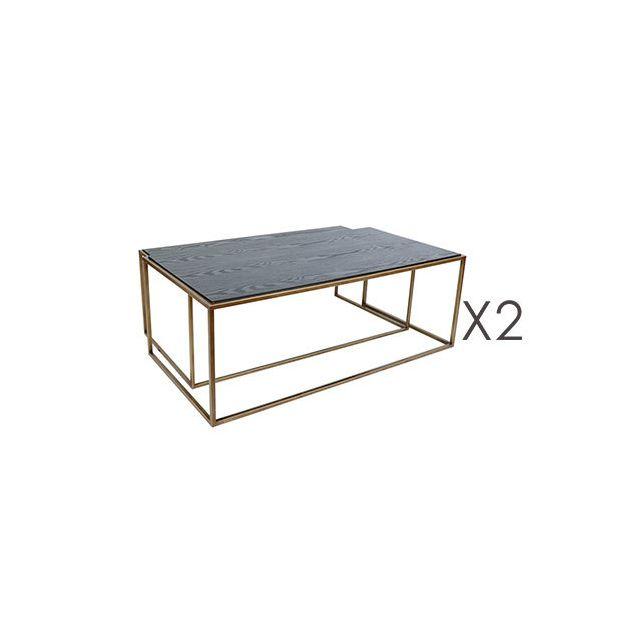 Lot de 2 tables Basses St Honoré 120x60xH43cm