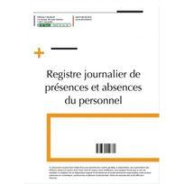 Editions Uttscheid - Registre journalier présences et des absences du personnel