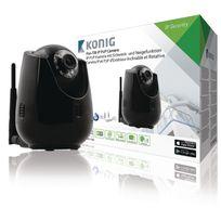 König - Hd Caméra de surveillance Ip Pan-Tilt Intérieur 720P Noir