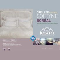 Lestra - Oreiller moelleux garnissage naturel duvet/plumettes Softyne