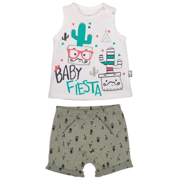 b1463012f2270 Petit Beguin - Ensemble t-shirt et short bébé garçon Mister Cactus - Taille  - 36 mois 98 cm - pas cher Achat   Vente Ensembles - RueDuCommerce
