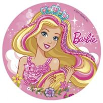 Dekora - Disque en sucre Barbie 16cm