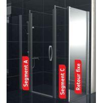 Akw - Paroi de douche en verre Duo Care fixe 1000mm Haut. 900mm Larenco