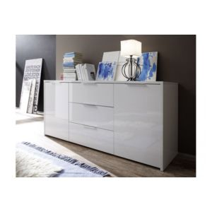 envie de meubles buffet laqu artic blanc laqu pas. Black Bedroom Furniture Sets. Home Design Ideas