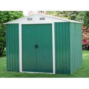 habitat et jardin abri de jardin m tal abri vert m2 pas cher achat vente abris en. Black Bedroom Furniture Sets. Home Design Ideas