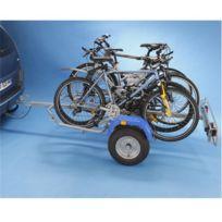 Mottez - Remorque porte-vélos 2 roues pour 4 vélos A354S, fixation sur boule d'attelage