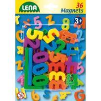 Simm Spielwaren - Lena 65747-MAGNET, Chiffres Et CaractÈRES 36 PiÈCES, Env. Ø 3 Cm