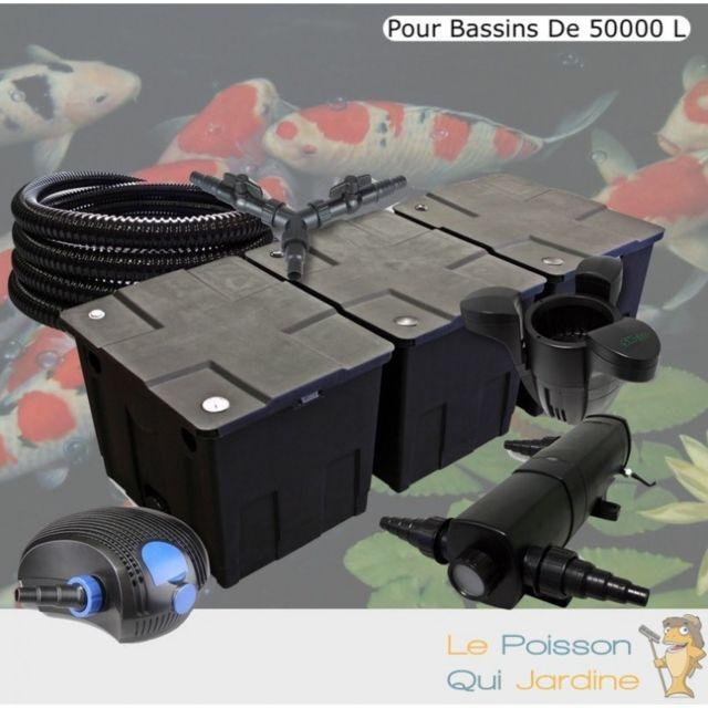 Le Poisson Qui Jardine Kit Filtration Complet 36W + Écumeur Pour Bassins De 50000 L