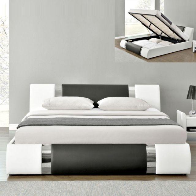 MEUBLER DESIGN Lit coffre design ATLANTICs - 140x190