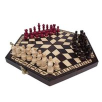 Prime Chess - 3 Trois Joueurs Set D'échecs - Petit - RÈGLES Inclus