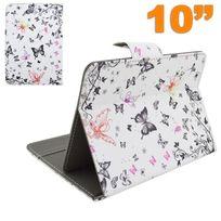 Yonis - Housse tablette 10 pouces 10.1'' universelle étui ajustable papillon