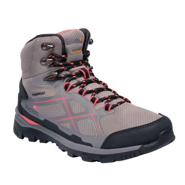 Regatta Chaussures de marche Kota - Femme 38, Gris / pêche Utrg2876