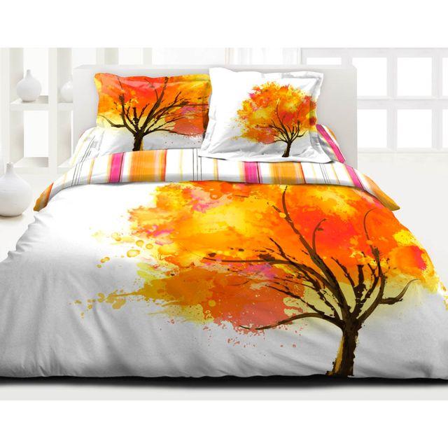 le linge de jules housse de couette 240x260 2 taies pur coton 57 fils onirique pas cher. Black Bedroom Furniture Sets. Home Design Ideas