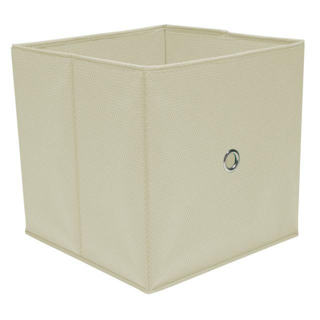 Ordinett Cube de Rangement Blanc 32 x 32 x 32 cm