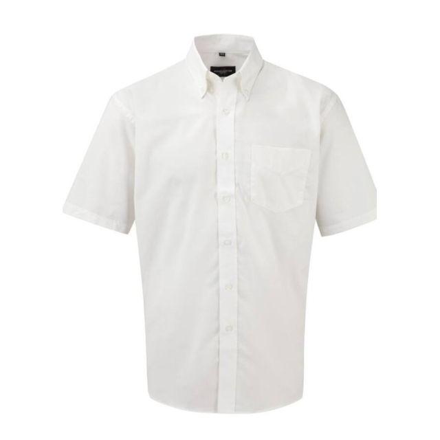 Fashion Cuir Chemisette Oxford repassage minimum Taille Homme - 6XL, Couleur - blanc