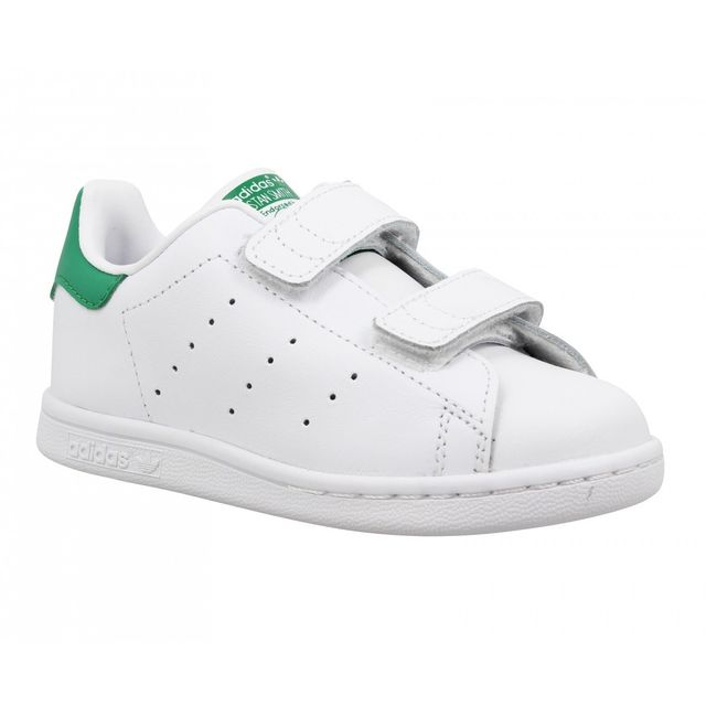 adidas stan smith cuir enfant 26 blanc vert pas cher achat vente baskets enfant. Black Bedroom Furniture Sets. Home Design Ideas