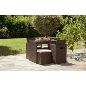 Dcb garden salon de jardin 2 places en r sine tress e for Dcb garden salon de jardin