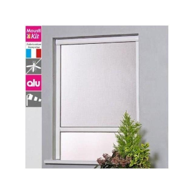 Superbe Moustikit   Moustiquaire Enroulable En Aluminium Pour Fenetre L125xH160 Cm  Gris   Pas Cher Achat / Vente Moustiquaire Fenêtre   RueDuCommerce