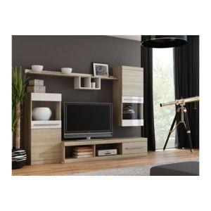 chloe design meuble tv mural design cink bois et blanc pas cher achat vente meubles tv. Black Bedroom Furniture Sets. Home Design Ideas