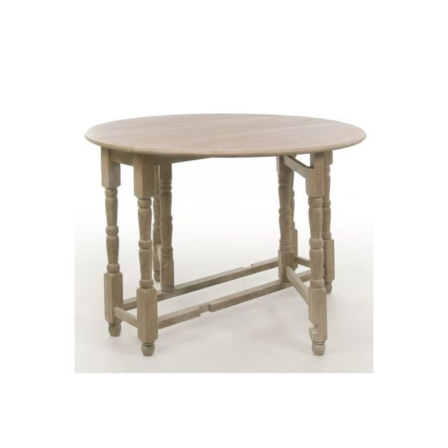 HELLIN TABLE PLIABLE RONDE KORG EN BOIS