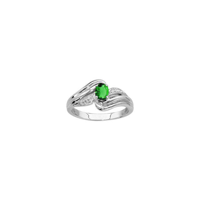 bague argent pierre verte pas cher