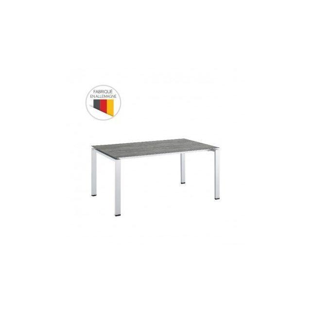 Kettler - Table de jardin rectangulaire Céramique 220 x 95 x 74 cm ...