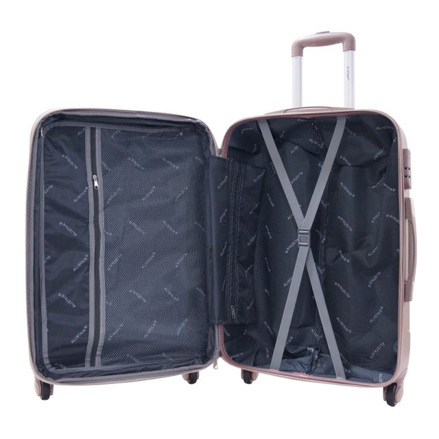 Alistair - Valise moyenne 65cm - Trolley Airo - Abs ultra Légère - 4 roues - Champagne
