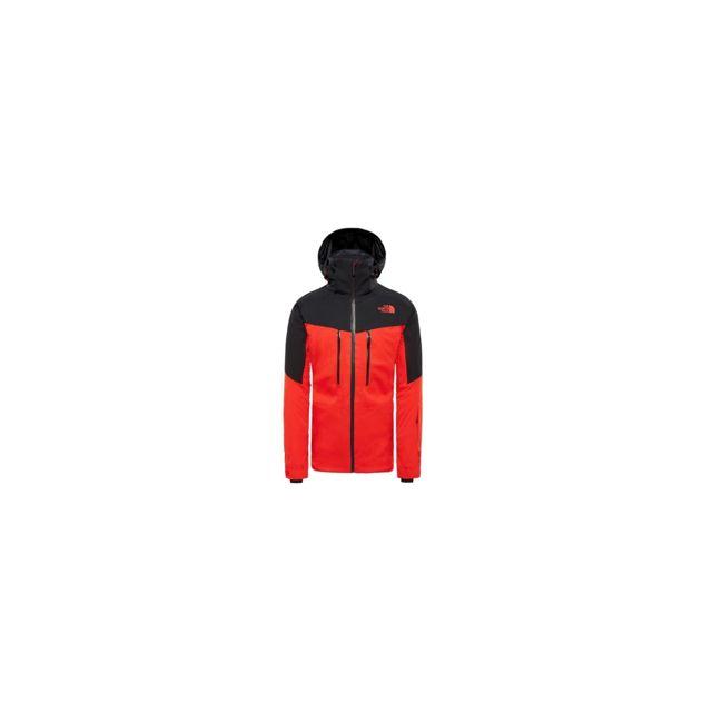 a22a224854 The north face - Veste De Ski M Chakal Fiery Red Black Rouge - pas cher  Achat / Vente Blouson de ski - RueDuCommerce
