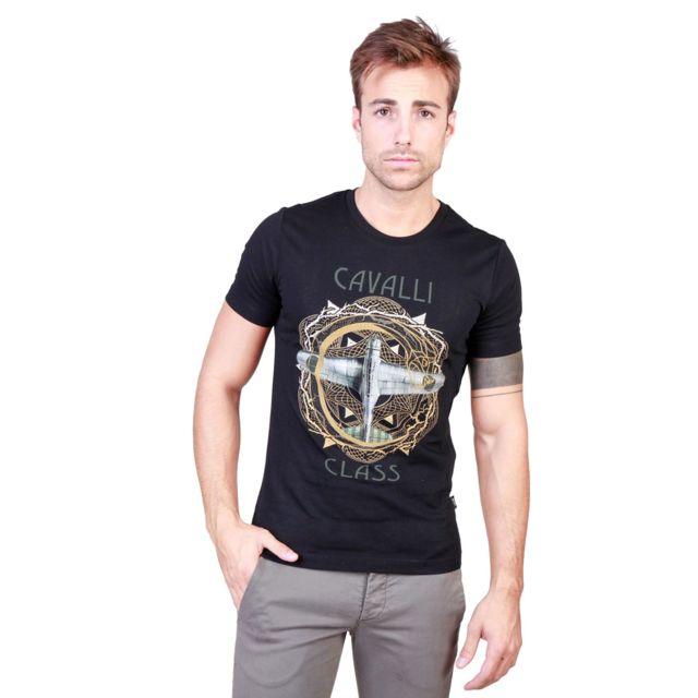 59ed508fa829 Cavalli Class - T-shirt homme noir imprimé torse - pas cher Achat ...