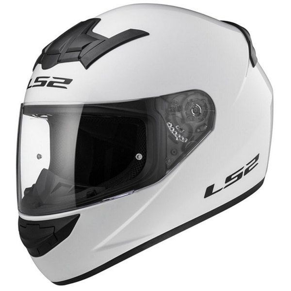 Ls2 Casque Moto Intégral Ff35210 Rookie Solid Blanc Brillant