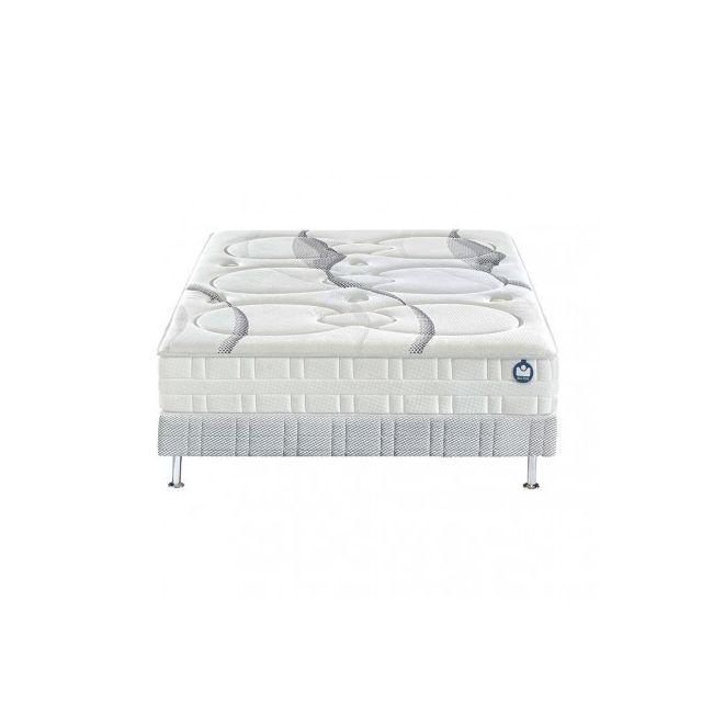 bultex ensemble nano glimmer sommier confort ferme 140x190 blanc 140cm x 190cm pas cher. Black Bedroom Furniture Sets. Home Design Ideas