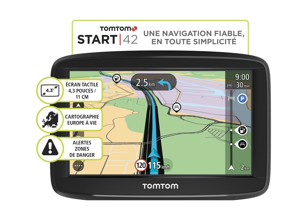 tomtom gps voiture start 42 europe achat vente gps. Black Bedroom Furniture Sets. Home Design Ideas