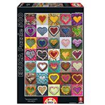 Educa Borras - Puzzle 500 pièces : Collection de coeurs
