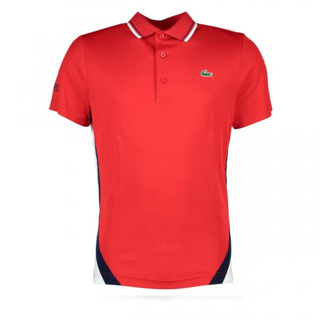 c88a66f5cc2be Lacoste - Polo - Dh9455-00FZ3 Rouge - pas cher Achat   Vente Polo homme -  RueDuCommerce