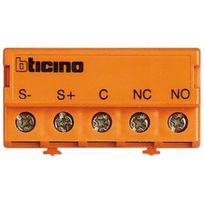 Bticino - 346250 - Relais commande ouverture - bus 2 fils - No/NF - 2A Max