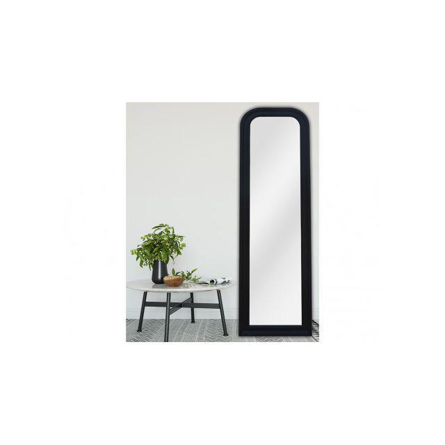 VENTE-UNIQUE Miroir CANDIDE - bois d'eucalyptus - 40 x 140 cm - Noir