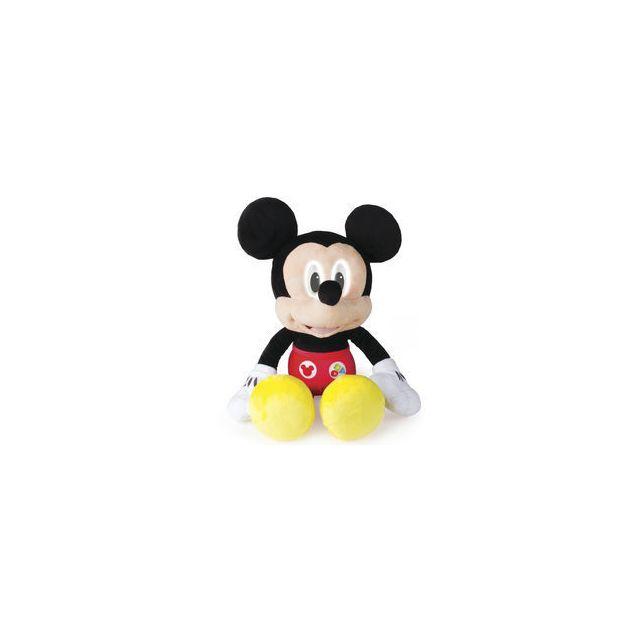 IMC Peluche interactive Mickey émotions Apprendre tout en s'amusant c'est possible avec cette formidable peluche interactive Mickey émotions !Fonctionne avec 3 piles AA - LR06 fournies.