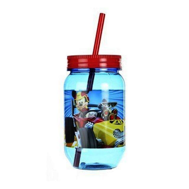 paille Cars Disney verre plastique enfant Gobelet